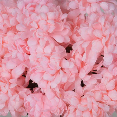 56 Artificial Pink Silk Chrysanthemum Flowers Bush Wedding Bridal Bouquet Vase Decoration