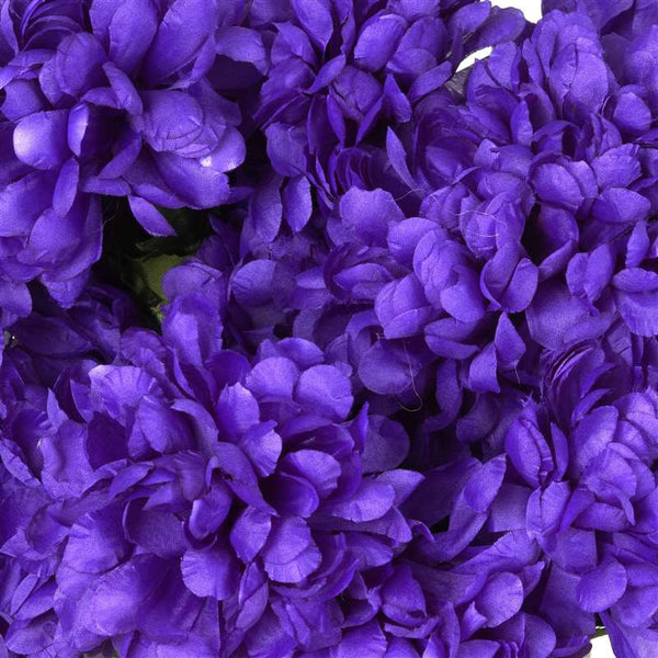 Large Chrysanthemum Bush Artificial Silk Flowers - Purple