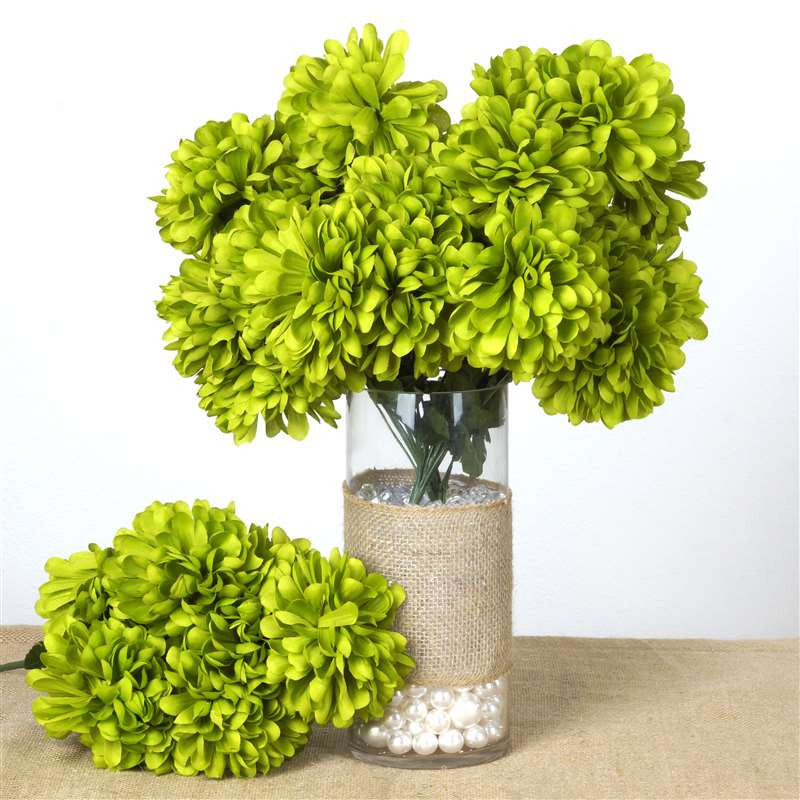 56 chrysanthemum mum balls sage green silk flowers factory 56 artificial sage green silk chrysanthemum flowers bush wedding bridal bouquet vase decoration 56 chrysanthemum mum balls sage green mightylinksfo
