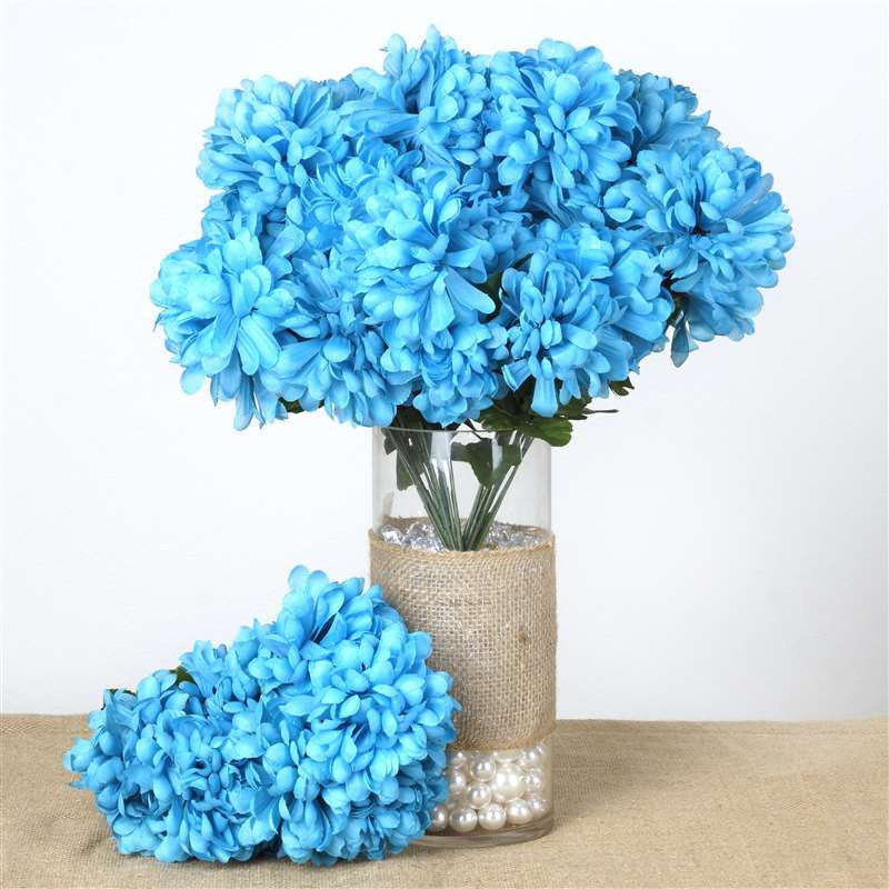 56 chrysanthemum mum balls turquoise silk flowers factory 56 artificial turquoise silk chrysanthemum flowers bush wedding bridal bouquet vase decoration 56 chrysanthemum mum balls turquoise mightylinksfo