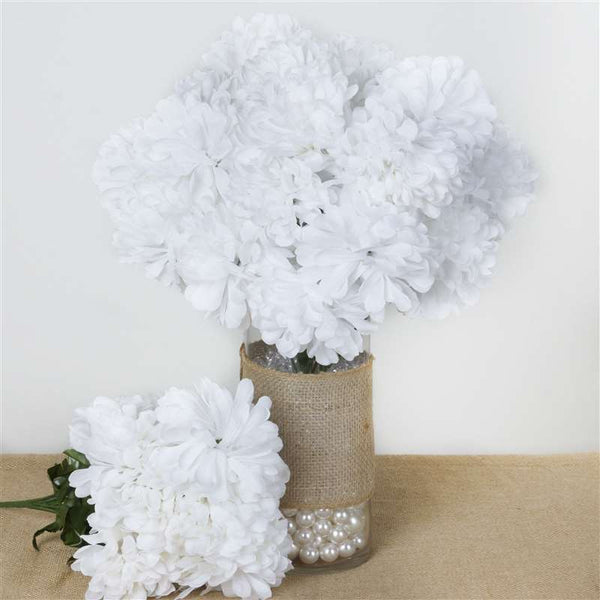 56 Chrysanthemum Mum Balls - White