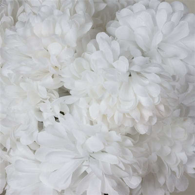 56 Artificial White Silk Chrysanthemum Flowers Bush Wedding Bridal Bouquet Vase Decoration