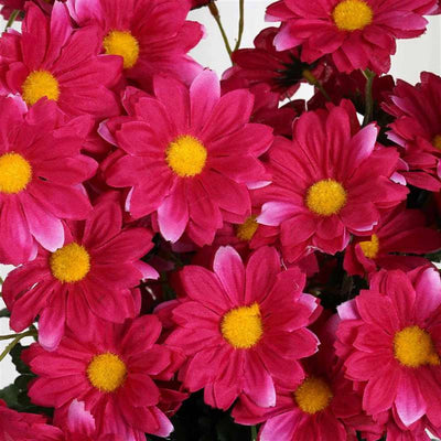 88 Wholesale Artificial Silk Daisy Wedding Vase Centerpiece Floral Decor  - Fushia