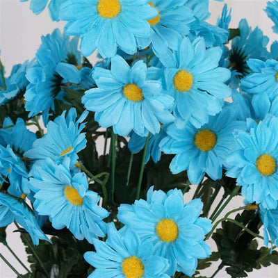 Common Daisy Bush Artificial Silk Flowers - Turquoise