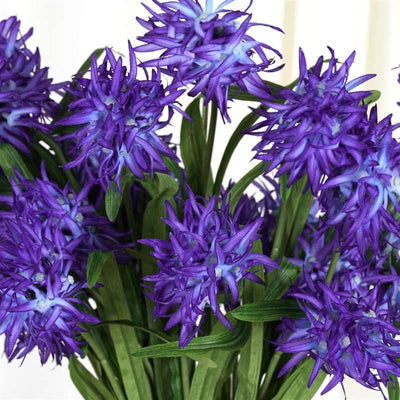 36 Artificial Silk Agapanthus Bushes For Wedding Home Vase Centerpiece Decor - Violet