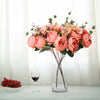 2 Bush Dusty Rose/Blush Peony, Rose Bud And Hydrangea Real Touch Artificial Silk Flower Bouquets