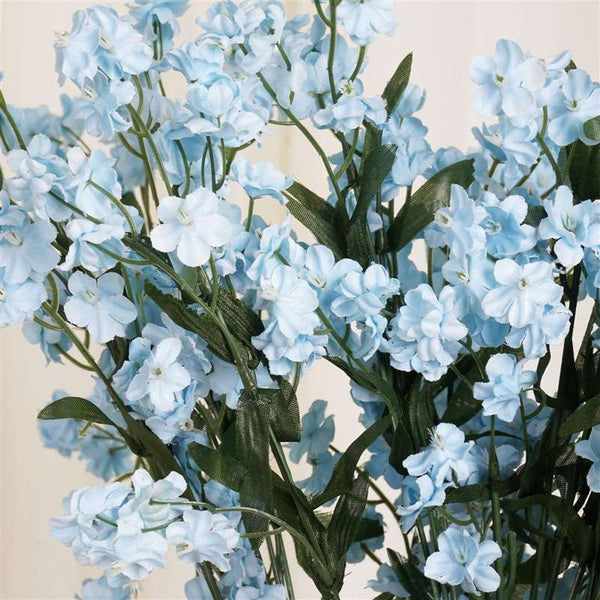 Baby Breath Bush Artificial Silk Flowers - Blue