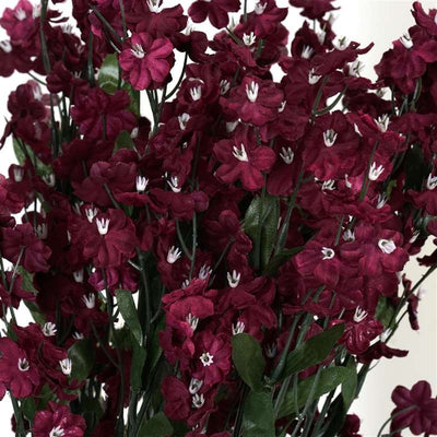 Baby Breath Bush Artificial Silk Flowers - Burgundy