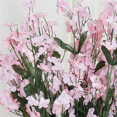 Baby Breath Bush Artificial Silk Flowers - Pink
