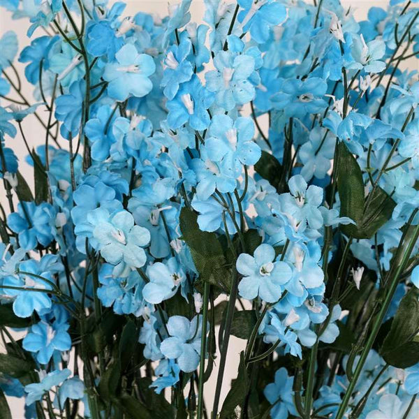 Baby Breath Bush Artificial Silk Flowers - Turquoise