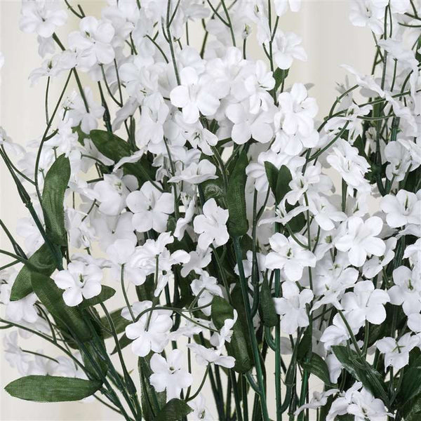 Baby Breath Bush Artificial Silk Flowers - White