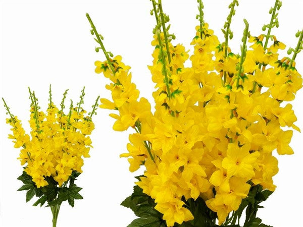 3 Artificial Delphinium Bushes Wedding Vase Centerpiece Decor - Yellow( Sold Out )