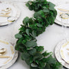 3 Feet | Real Touch Eucalyptus & Boxwood Leaves Green Artificial Garland Vines