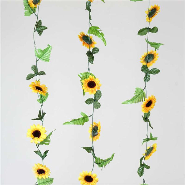 8 x Sunflower Garlands