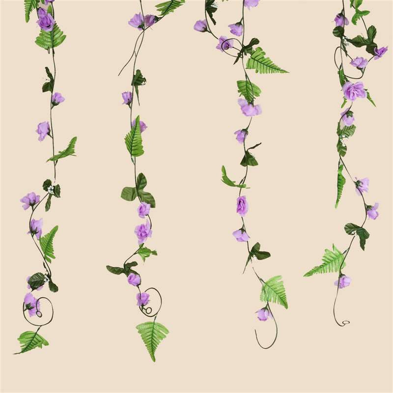 6 FT Artificial UV Protected Lavender Rose Silk Flower Chain Garland Wedding Arch Gazebo Decor - 8 PCS( Sold Out )