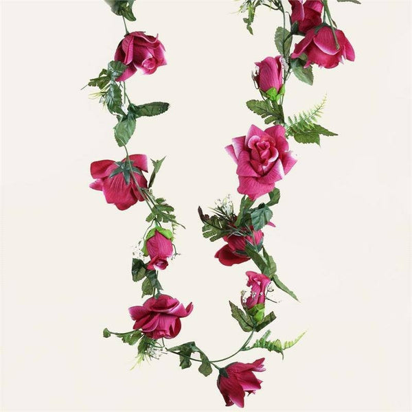 4 x Supersized Rose Garland-Fushia