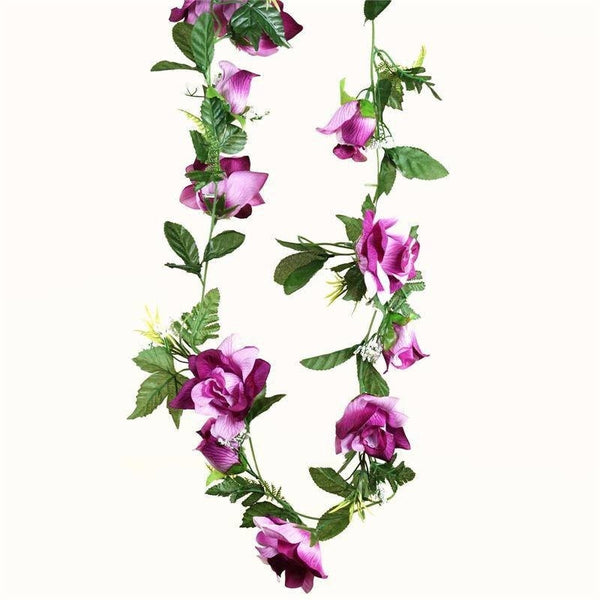 4 x Supersized Rose Garland-Lavender