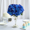 Hydrangea Bush Artificial Silk Flowers - Royal Blue