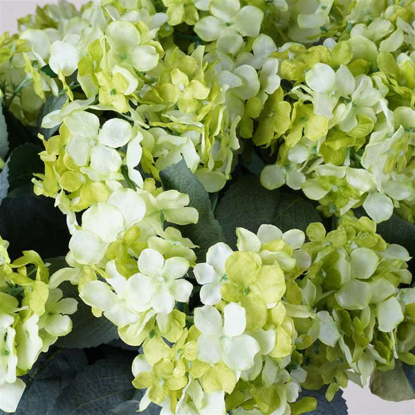 Lime Artificial Hydrangea Bush Wedding Vase Centerpiece Floral Decor