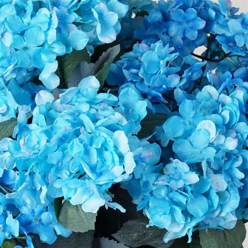 Turquoise Artificial Hydrangea Bush Wedding Vase Centerpiece Floral Decor
