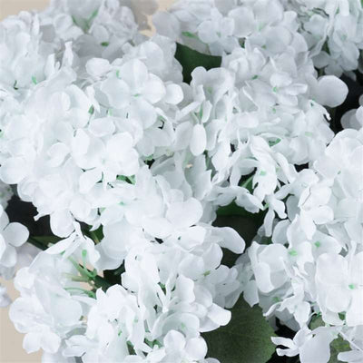 White Artificial Hydrangea Bush Wedding Vase Centerpiece Floral Decor