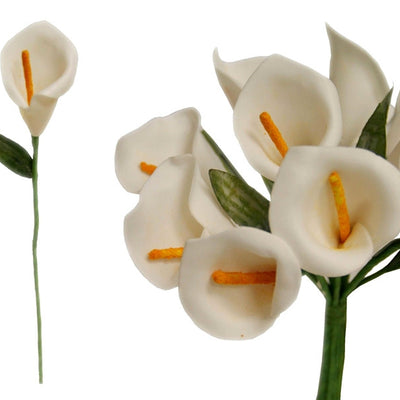 60 Single Stem Mini Calla Lily White