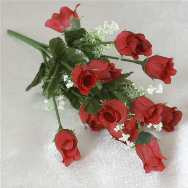 Mini Rose Buds Red 252 Pk Silk Flowers Factory