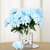 Small Chrysanthemum Bush Artificial Silk Flowers - Blue
