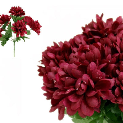 84 silk chrysanthemum burgundy silk flowers factory 84 artificial burgundy silk chrysanthemum flowers wedding bridal bouquet vase decoration mightylinksfo