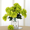 Small Chrysanthemum Bush Artificial Silk Flowers - Lime Green