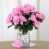 Small Chrysanthemum Bush Artificial Silk Flowers - Pink