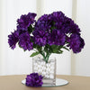 Small Chrysanthemum Bush Artificial Silk Flowers - Purple