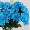 Small Chrysanthemum Bush Artificial Silk Flowers - Turquoise