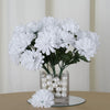 Small Chrysanthemum Bush Artificial Silk Flowers - White