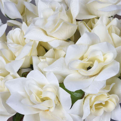 168 Artificial Cream Velvet Bloom Rose Flowers Wedding Bridal Bouquet Centerpiece Decoration