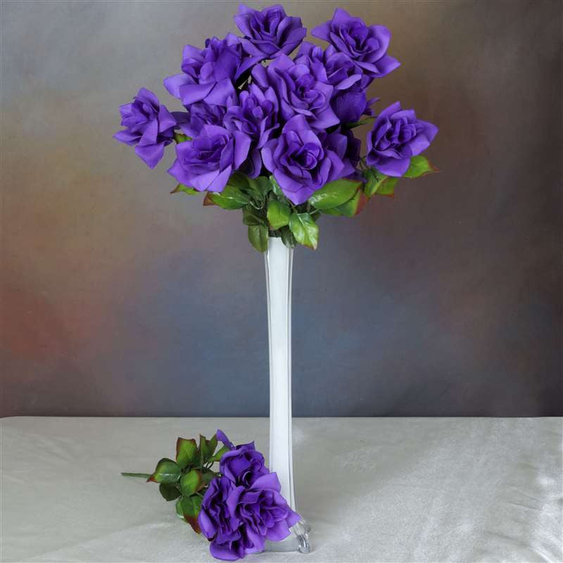 Velvet Bloom Roses-Purple-168/pk