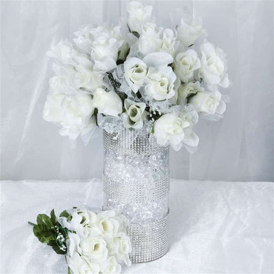 84 Organza Rose Buds - Cream