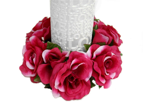 Candle Ring-Fushia - 8/pk