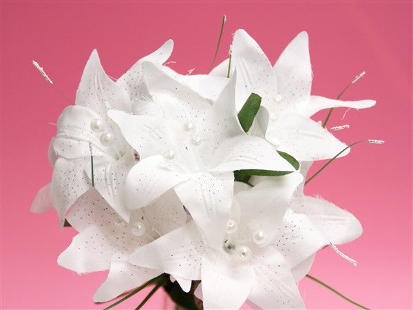 70 Tiger Lily - White | Silk Flowers Factory