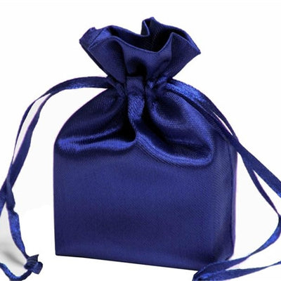 3X4 Navy Blue Satin Bags-dz/pk