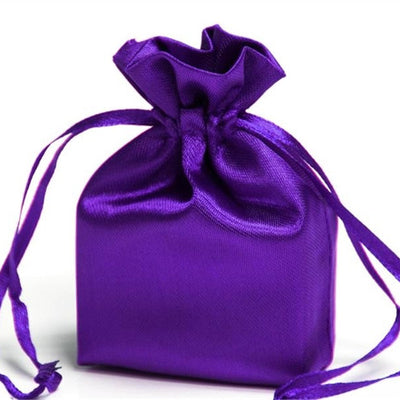 3X4 Purple Satin Bags-dz/pk
