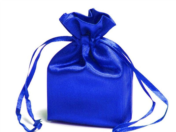 3X4 Royal Blue Satin Bags-dz/pk