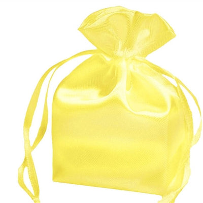 3X4 Yellow Satin Bags-dz/pk
