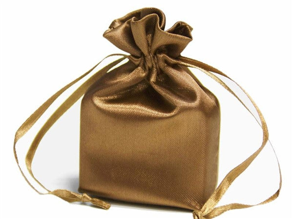 5x7 Antique Gold Satin Bags-dz/pk