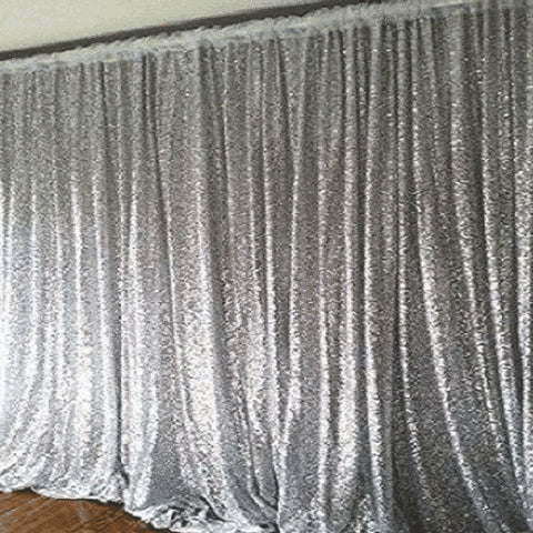 20ft x 10ft Grand Duchess Sequin Backdrop Silver
