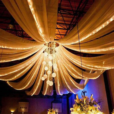 "4 Panel 20"" Hoop Ceiling Draping Hardware Kit For Wedding Party Banquet Event - FREE Tool Kit"