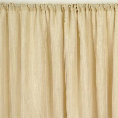 20ft x 10ft CHAMBURY CASA Fine Rustic Burlap Backdrop Natural Tone