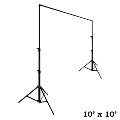10ft x 10ft Adjustable Backdrop Stand with Tripod Base