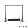 6.5ft x10ft Adjustable Heavy Duty Pipe and Drape Kit Wedding Photography Backdrop Stand
