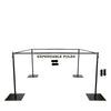 10FTx10FT Adjustable Crossbar Kit Wedding Photography Canopy And Drape Backdrop Stand